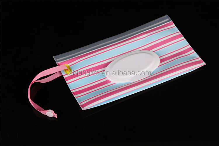 high gas barrier wet tissue bag with tear tabs baby wipes packaging bag
