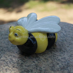 ceramic mole garden ornament