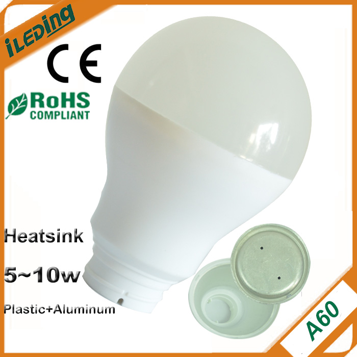 A60 Heatsink aluminum for E27 LED bulb 8W