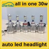 OEM laser logo 30w cree led headlight auto h4 H7 H11 9005 9006 with biggest discount for trade assurance orders