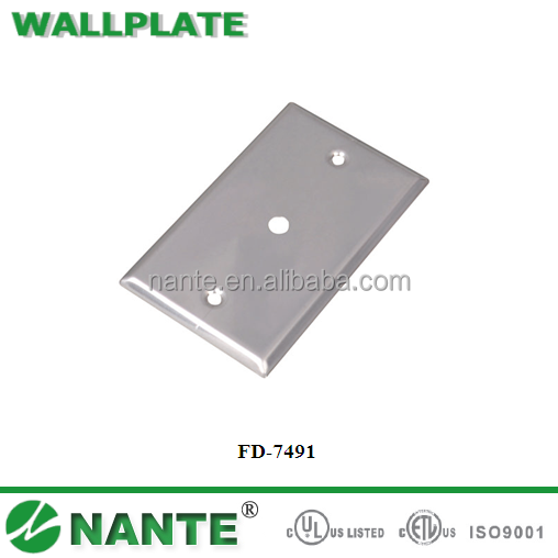 American Type Wall Socket Wallplate with UL Approval, Phone and Coaxial Cover