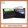 Slim leather custom wallet with RFID blocking