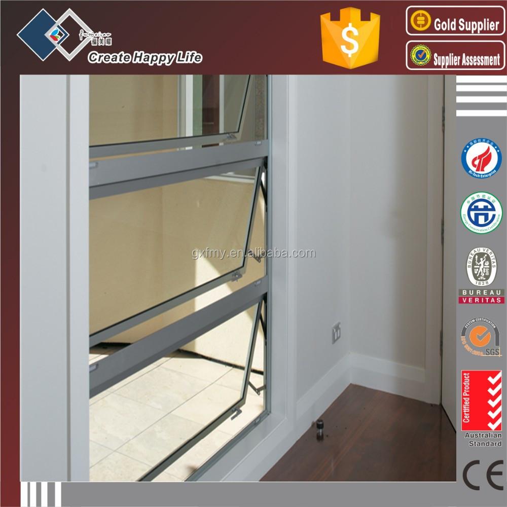Marco de aluminio Material y abertura Horizontal patrón de vidrio ...