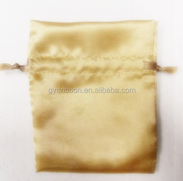 The Newest Design and Gold blank Satin Bag for Packing Candy/Wine/ Present,wrapping party gift/wedding rings bag