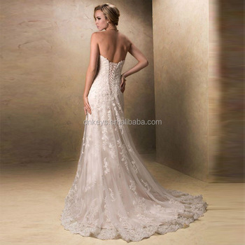 K1693A Customized Top Quality Long Fishtail Wedding Dresses Bridal Gowns For Fat Women