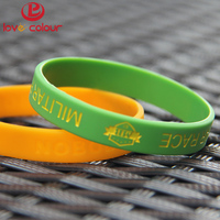 Promotional Silicone Rubber Wristband Custom Cheap 1 inch Wide Debossed Silicone Bracelet