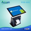 "POS-B10 New 32GB J1900 10"" all in one touch screen pos terminal cheap with thermal printer"