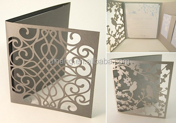 pocket fold laser cut wedding invitation sleeves buy wedding
