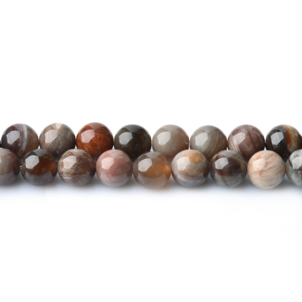 Wholesale Price A Grade Brazil Petrified Wood Agate Round Beads For Jewelry Making