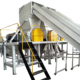 PP PE Plastic film recycling crushing washing squeezing machine line