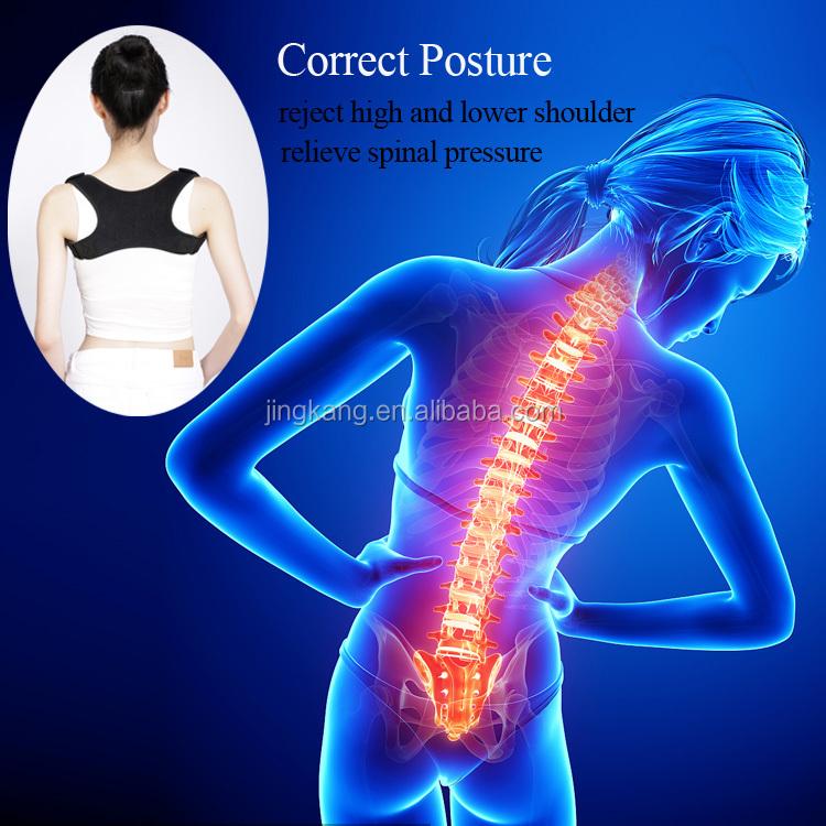 Nero Postura Correttore Torna spalla Support Belt/clavicola brace sostegno per la schiena postura ortopedico postura correttore