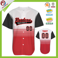 latest design customized sublimated baseball buttons shirt baseball jersey wholesale