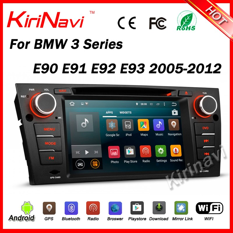 Kirinavi WC-BW7109 android 5.1 car radio dvd bluetooth for car stereo for bmw e90/e91/e92/e93 2005-2012 navigation system