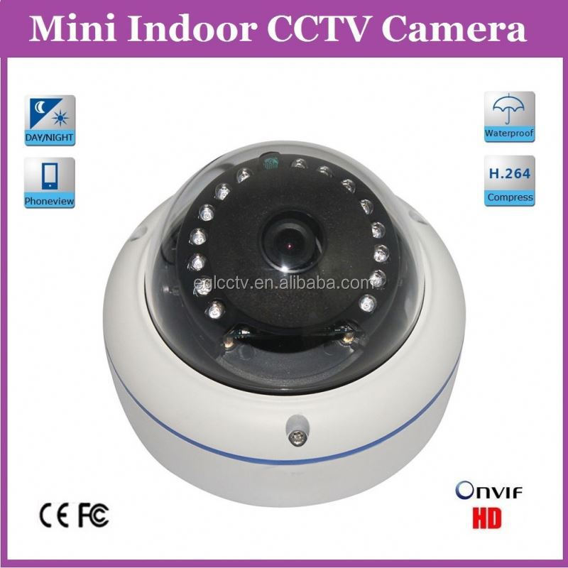 720P 1MP Water Proof Poe Small Security Ir Led Cctv Indoor Cctv Vandal Dome Camera With 3.6mm Wide Angle Lens