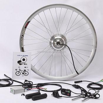 Front rear wheel electric bike kit 250 watt hub motor for 250 watt brushless dc motor