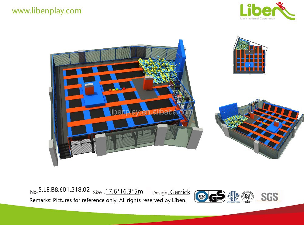 indoor large jump trampolines south africa with foam pit