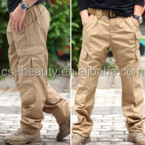 Good Quality Fishing Travel Long Pants Men's Ripstop Waterproof Pants Military Combat Tactical Long Trousers Sand Color