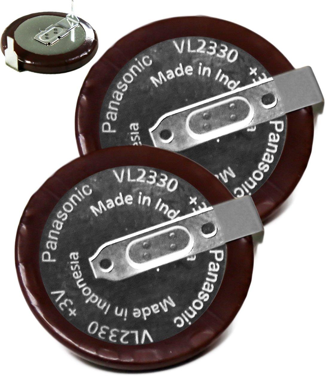 2PCS - Panasonic VL2330 Rechargeable, VL2330 - VL 2330, VL2330/HFN , 3V Lithium Coin Cell Battery …