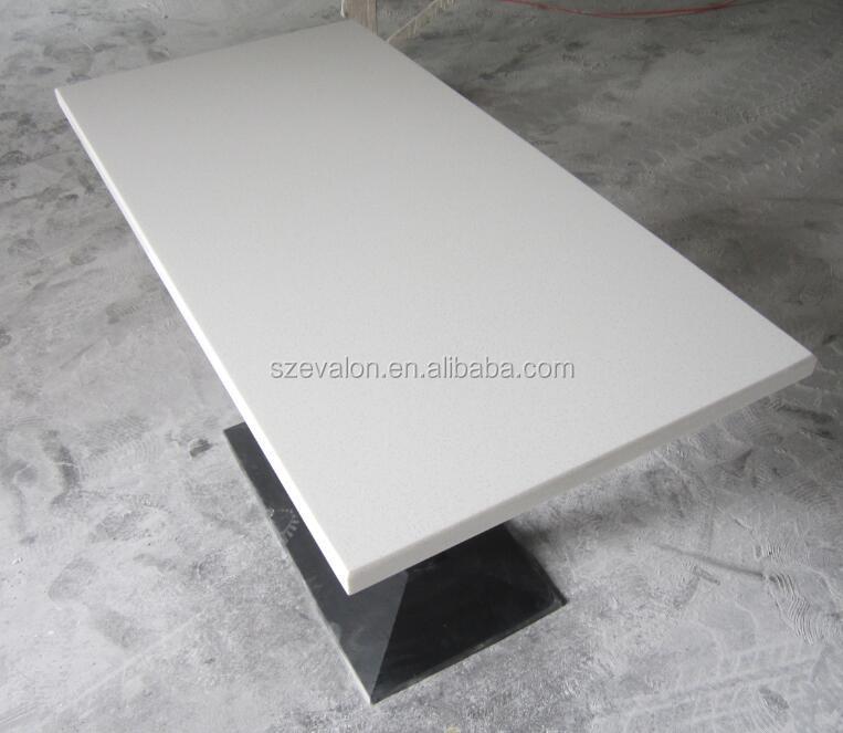 Rectangular Quartz Composite Stone Dining Table Top Acrylic Soid Surface Restaurant Marble Tables