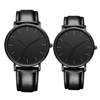 Black leather strap ladies minimalist watch brand wholesales Richports