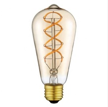 Flexible led filament edison-birne E27 E26 spirale dimmbare dekorative <span class=keywords><strong>antike</strong></span> flexible led <span class=keywords><strong>lampe</strong></span>