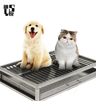 Steel Colored Pet Dog toilet for dogs and cats
