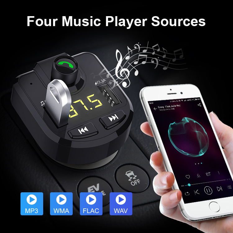 Amazon Hot Selling Hands Free Adapter Wireless 4.0 Bluetooth Car Kit
