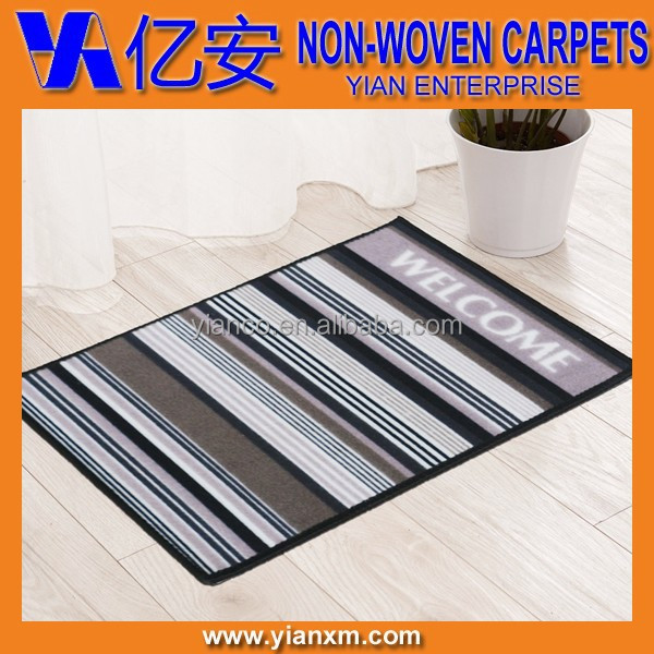 Strip welcome printed entrance home room mats