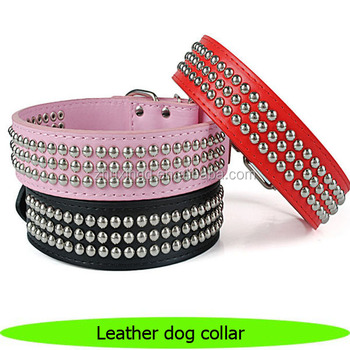 Leather dog collar eco friendly products China