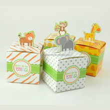Tier cartoon box kreative süßigkeitskästen <span class=keywords><strong>Baby</strong></span> Shower Birthday Party Favor Partei Liefert