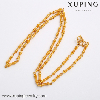 New Arrival Xuping Finest Jewellery 24 Karat Gold Womens Fashion Necklace Chain