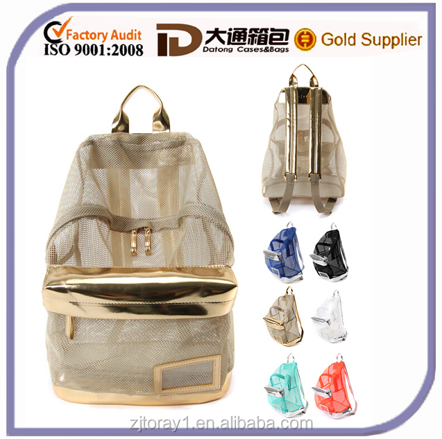 Fashion Transparent Clear Mesh Backpack For Girls - Buy ...