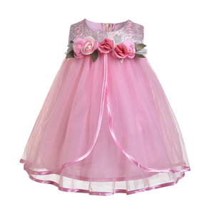 new delhi india wholesalers normal flower 9 years old girls party cotton frock designs light up blush pink baby dress