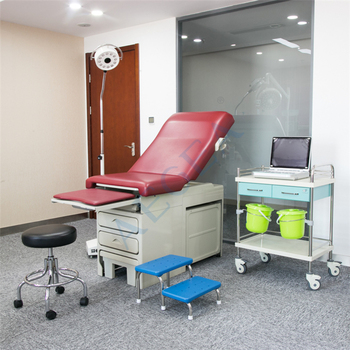 Medical gynecological examination room used general maternity bed delivery obstetric labor table