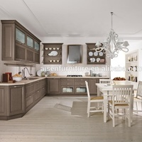 2018 Solid Wood Pre Assembled Kitchen Cabinets from Hangzhou Factory