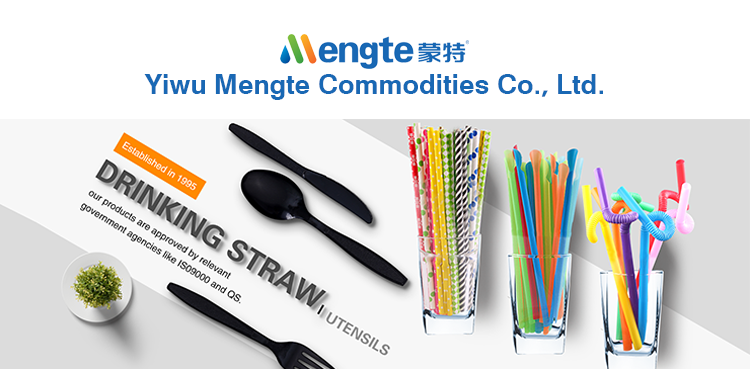 2018mengte customized newest design biodegradable PLA drinking straw