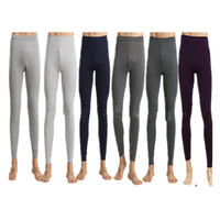 Men s Warm Knitted Silk Long Johns 180g Cotton Breathable Long Johns