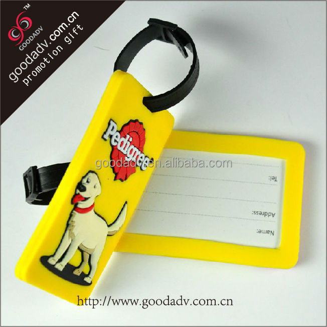Wholesale Anime Cartoon Style Luggage Tag Custom Travel Soft PVC Luggage Tag