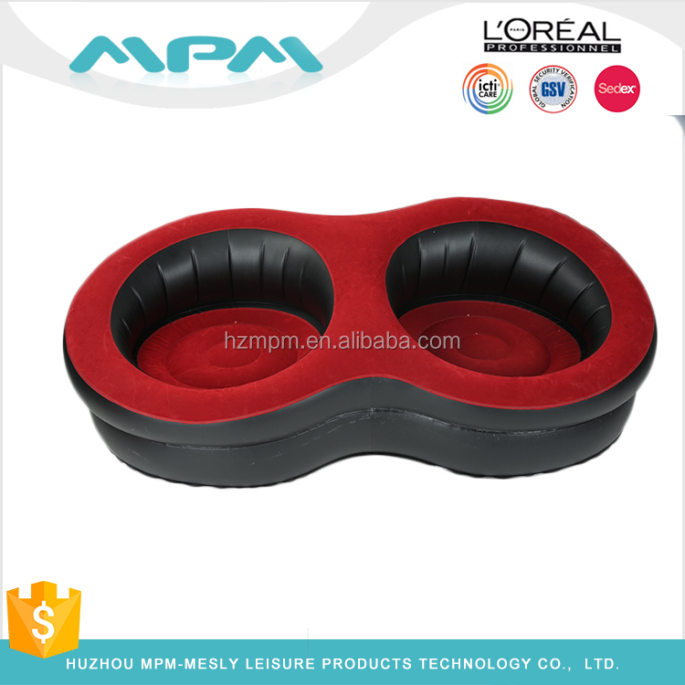 Inflatable Sofa outdoor relax inflatable chair sofa custom OEM pvc Flocking Pillow Chair Sofa