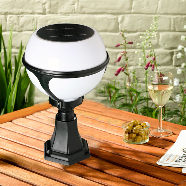 Spanien solar pillar light with high lumen