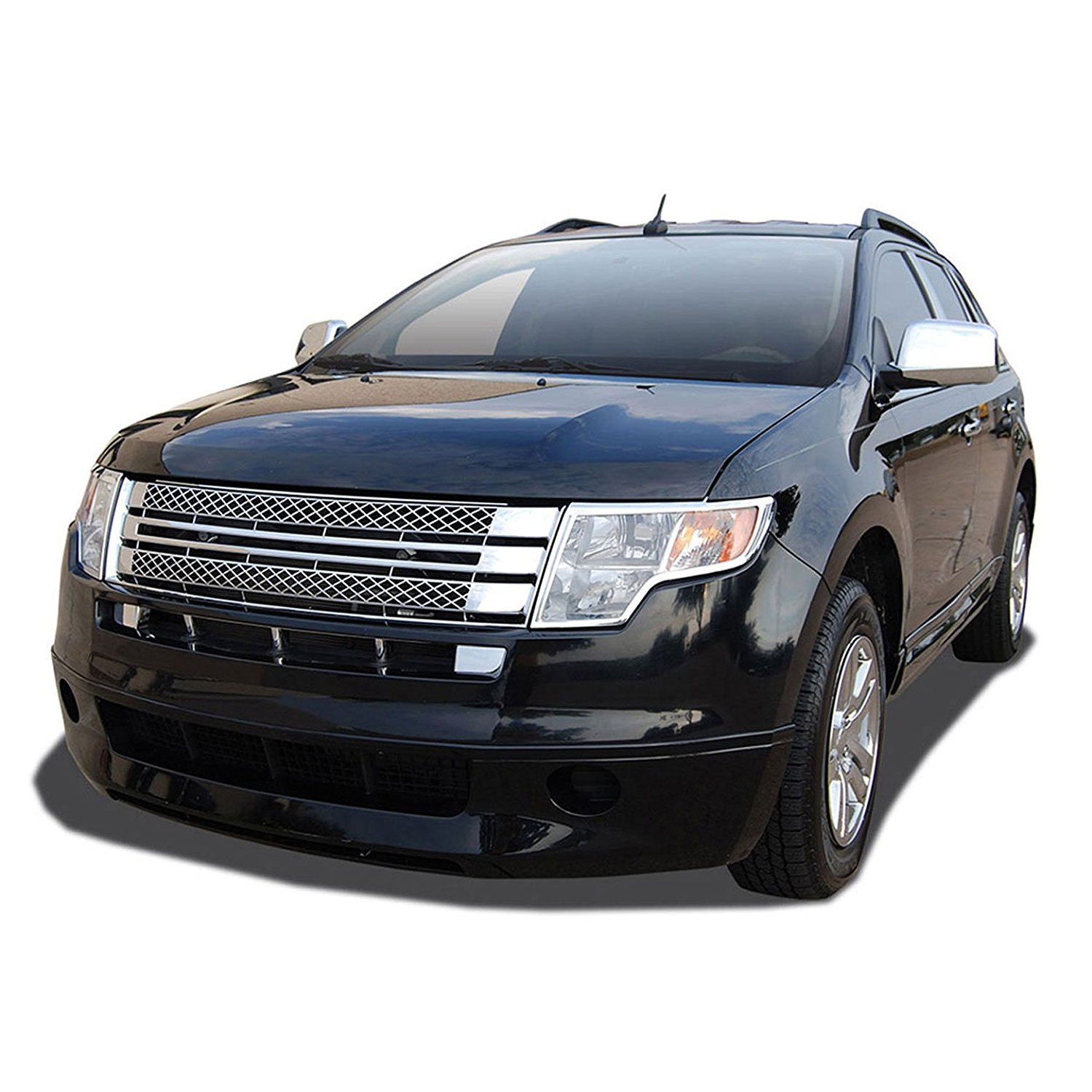 Get quotations · premium fx chrome performance mesh style replacement grille for 07 10 ford edge