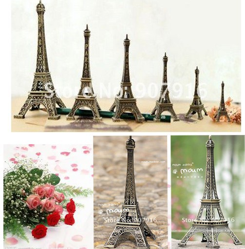high 30cm metal craft arts 3D Eiffel Tower model French france souvenir paris home decoration gift desk office