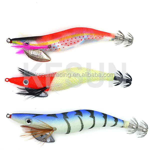 Kesun EGI squid jig 1.5/1.8/2/2.5/3/3.5/4# glow sharp hook auri-Q fishing tackle artificial bait