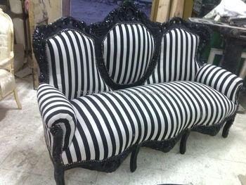 black and white striped baroque sofa buy black and white striped baroque sofa black and white. Black Bedroom Furniture Sets. Home Design Ideas