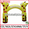 outdoor lovely inflatable animal arch,inflatable giraffe arch
