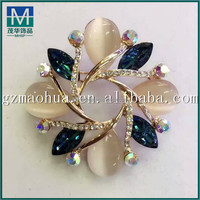 MH0027 Elegant Gold Plant Tree Flower Shaped White Faux Pearl Brooch for women wedding party