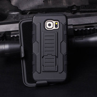 PC TPU Case 3 in 1 Powerful Hard Heavy Holster combo Case Mobile Cell Armor Phone Case For IPhone Samsung S7 S7 plus S6 S5 S4