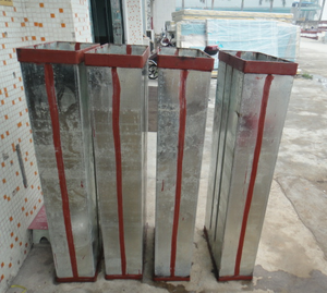 Galvanized plate block ice mould