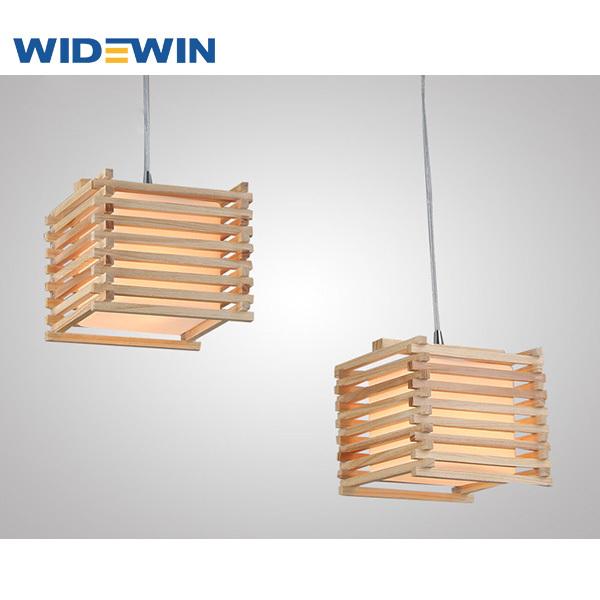 Creative diseño cuadrado de techo de la lámpara/de madera para la ...