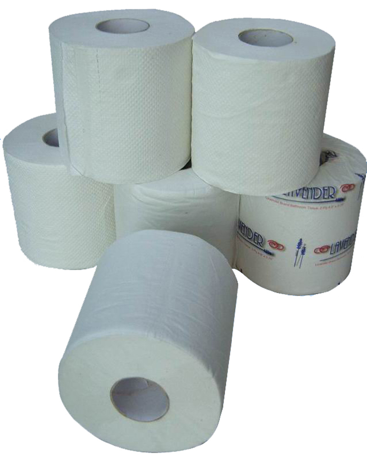 3ply 15gsm Soft White Recycled Toilet Paper Bath Tissue